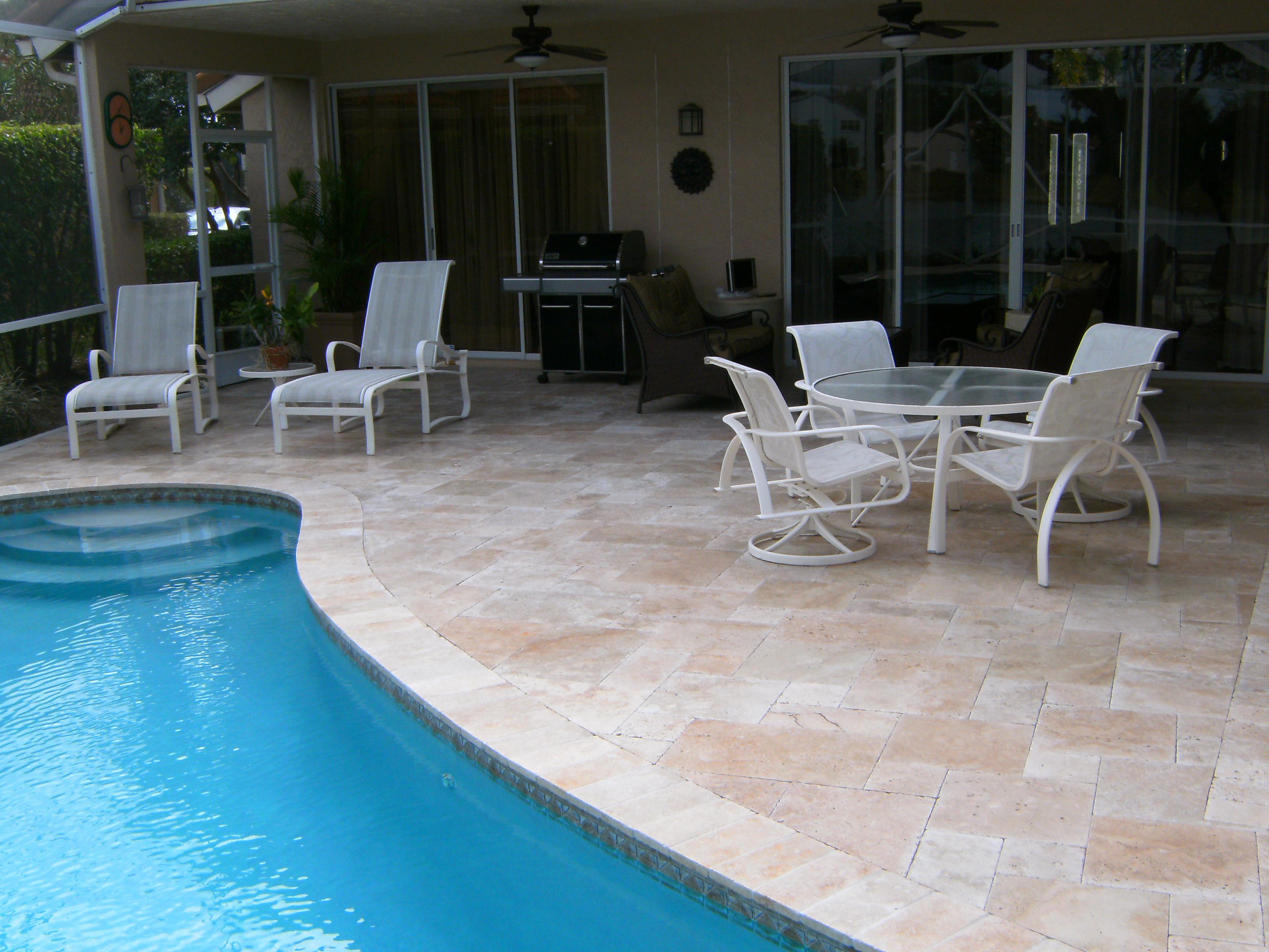 Travertine Tile Pool Travertine Instalation Photo Examples