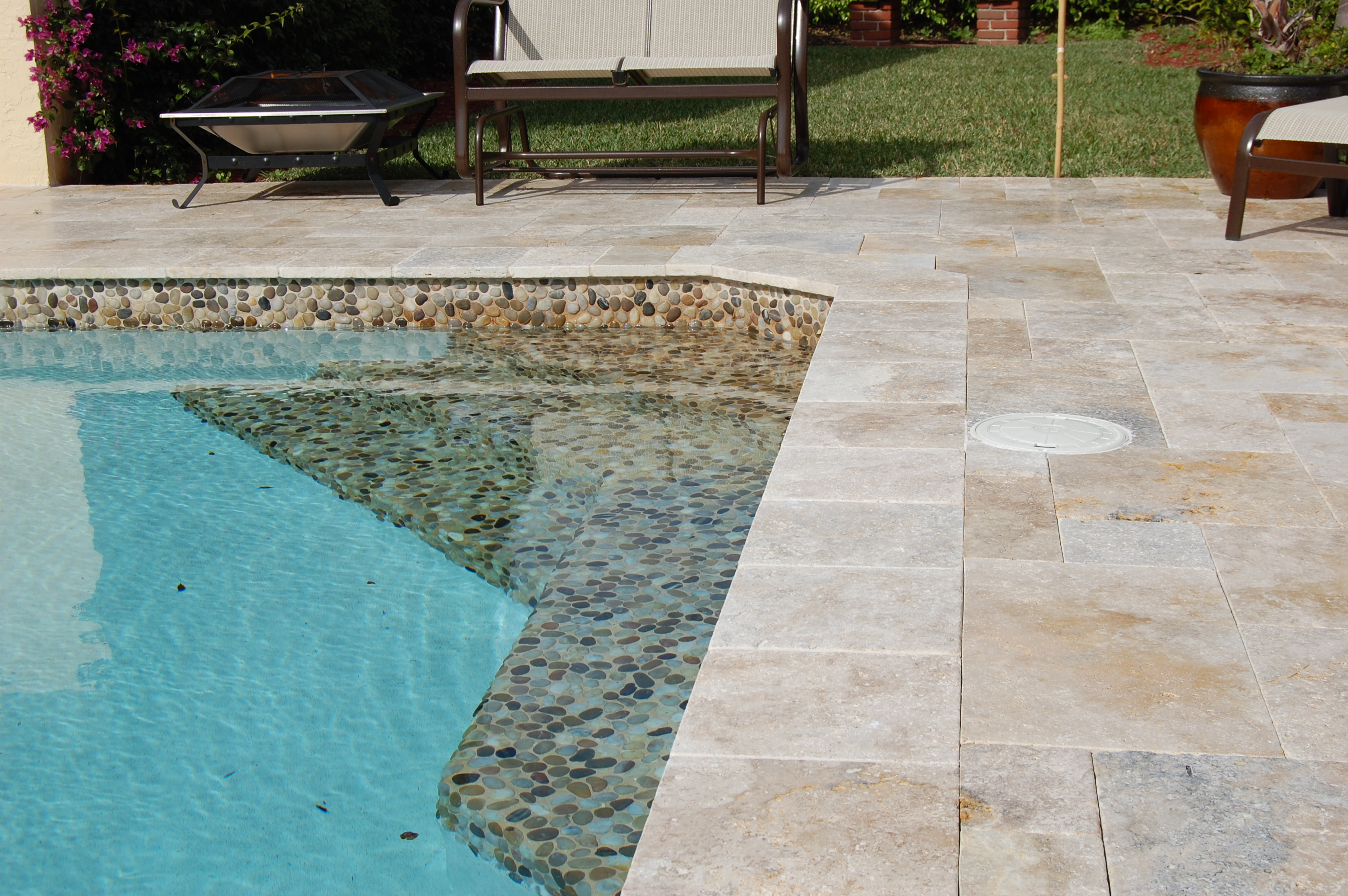 Travertine Pool Pavers Travertine Instalation Photo Examples