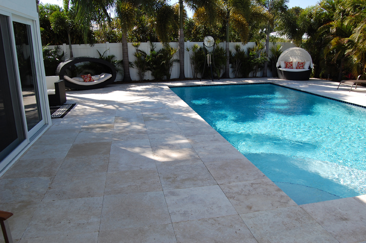 Travertine Tile Pool Cool Travertine Instalation Photo Examples