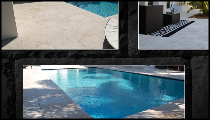 travertine outdoor pool patio sample