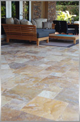 travertine patio